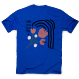 Give yourself time men's t-shirt Blue