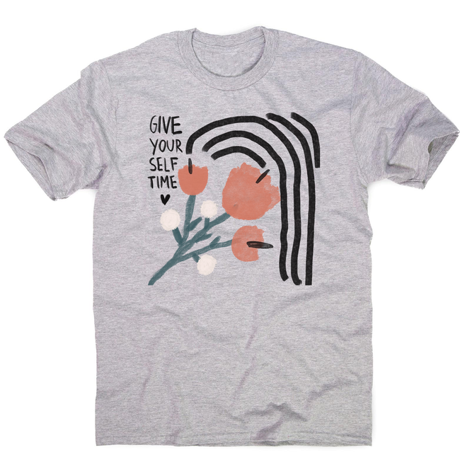 Give yourself time men's t-shirt Grey