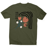 Give yourself time men's t-shirt Military Green