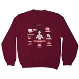 It´s okay to put yourself first sweatshirt Burgundy