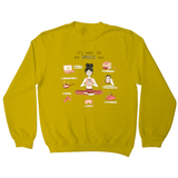 It´s okay to put yourself first sweatshirt Yellow