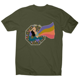 Rainbows men's t-shirt Military Green