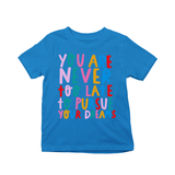 You're never too late to pursue your dreams kids t-shirts Blue