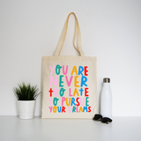 You're never too late to pursue your dreams tote bag Natural