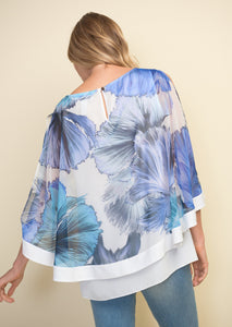 Sheer Floral Overlay Top