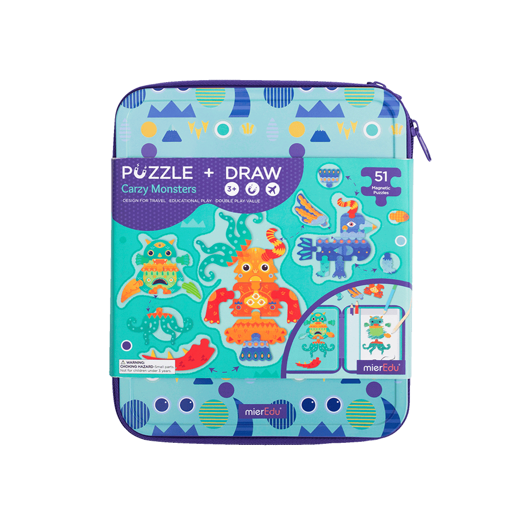 Educational puzzle and draw crazy monsters toy