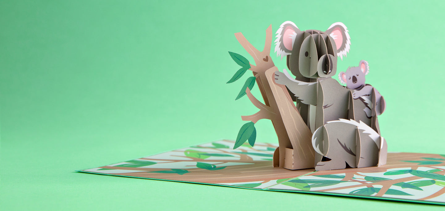 Seen Here Koala Family Pop Up Card
