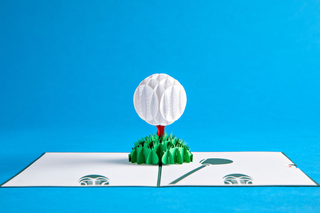 golf pop up card