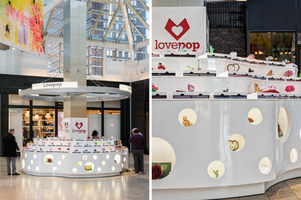 lovepop prudential center kiosk