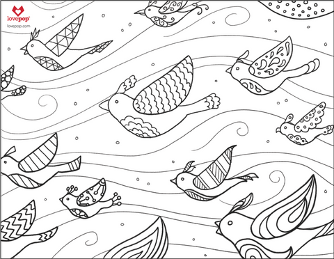 Coloring Pages: Birds