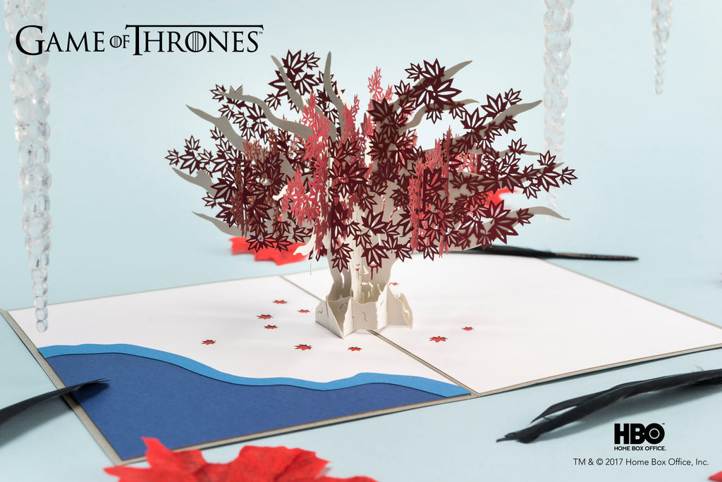 Weirwood Tree Game of Thrones Pop up Card