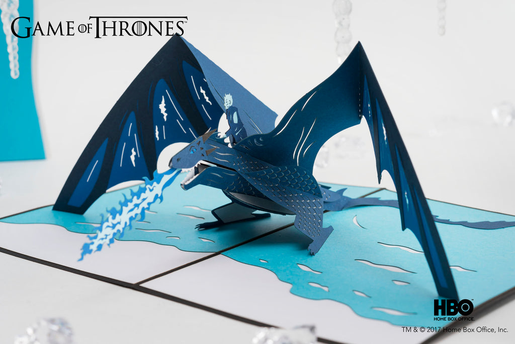 The Night King and Viserion Game of Throne Pop up Card