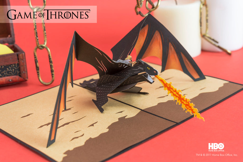 Drogon and Daenerys Game of Thrones Pop up Card