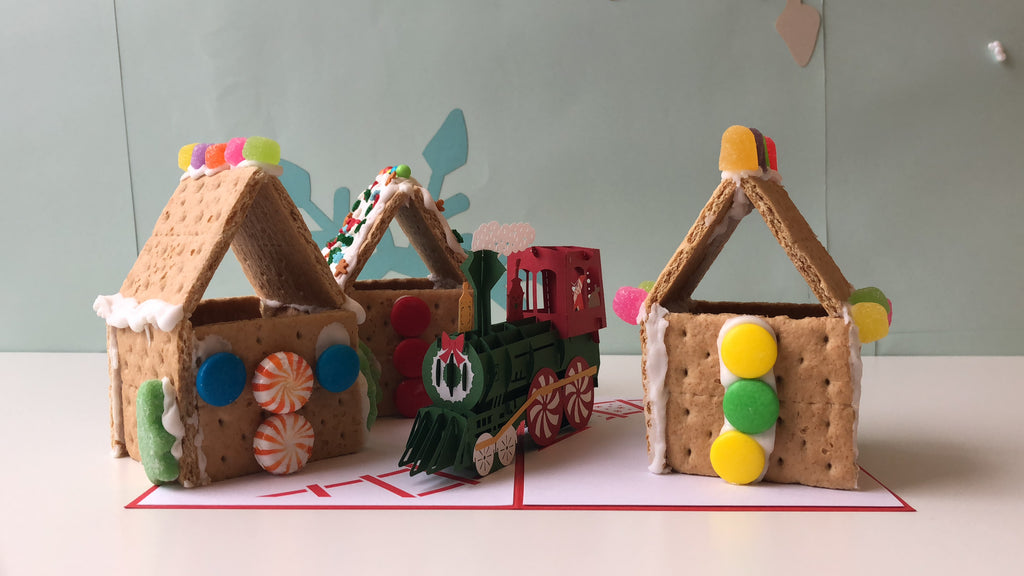 DIY Lovepop Gingerbread Village Holiday