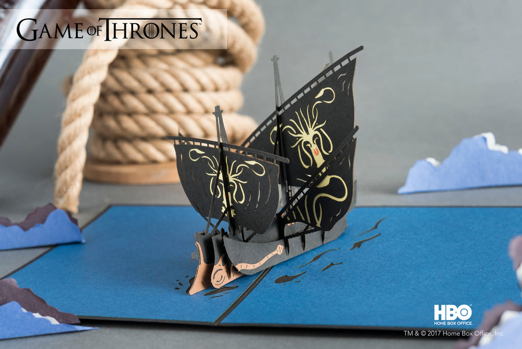Euron's Ship Game of Thrones Pop up Card