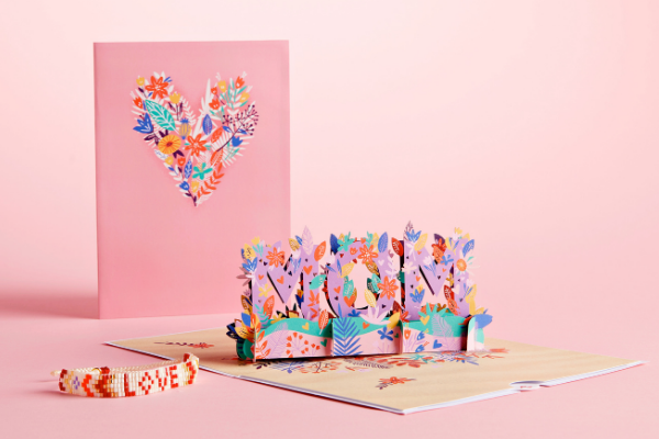 love for mom card with bracelet
