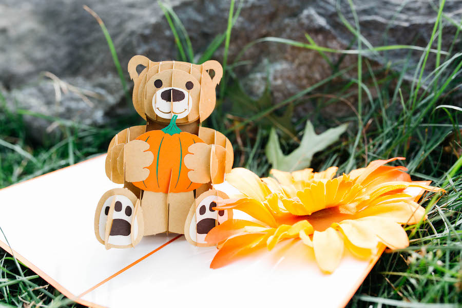 Lovepop Pop-up Fall Bear Halloween Card
