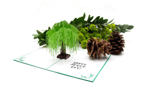 Willow Tree Pop Up Greeting Card