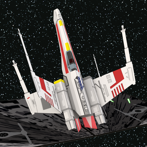 X-wing Starfighter Pop up CArd