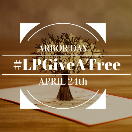 #LPGiveATree campaign. Give a pop up card and plant a tree