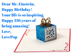 Albert Einstein's birthday card