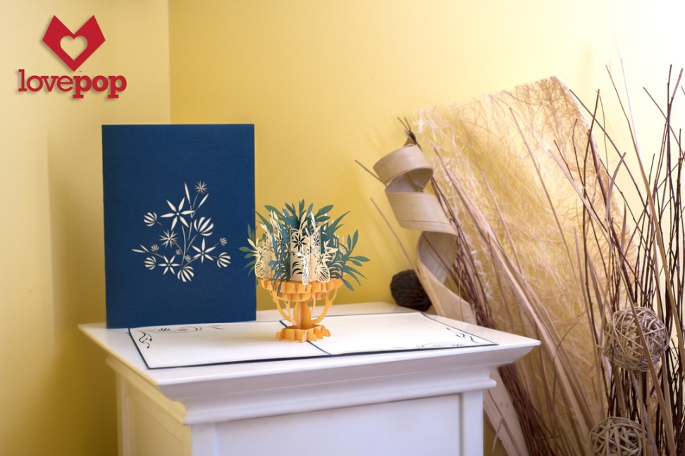 Pop. Delight. Surprise. Flowers. LovePop's  Green Fountain of Flowers Paper Pop Up Card. #SomethingSpecial
