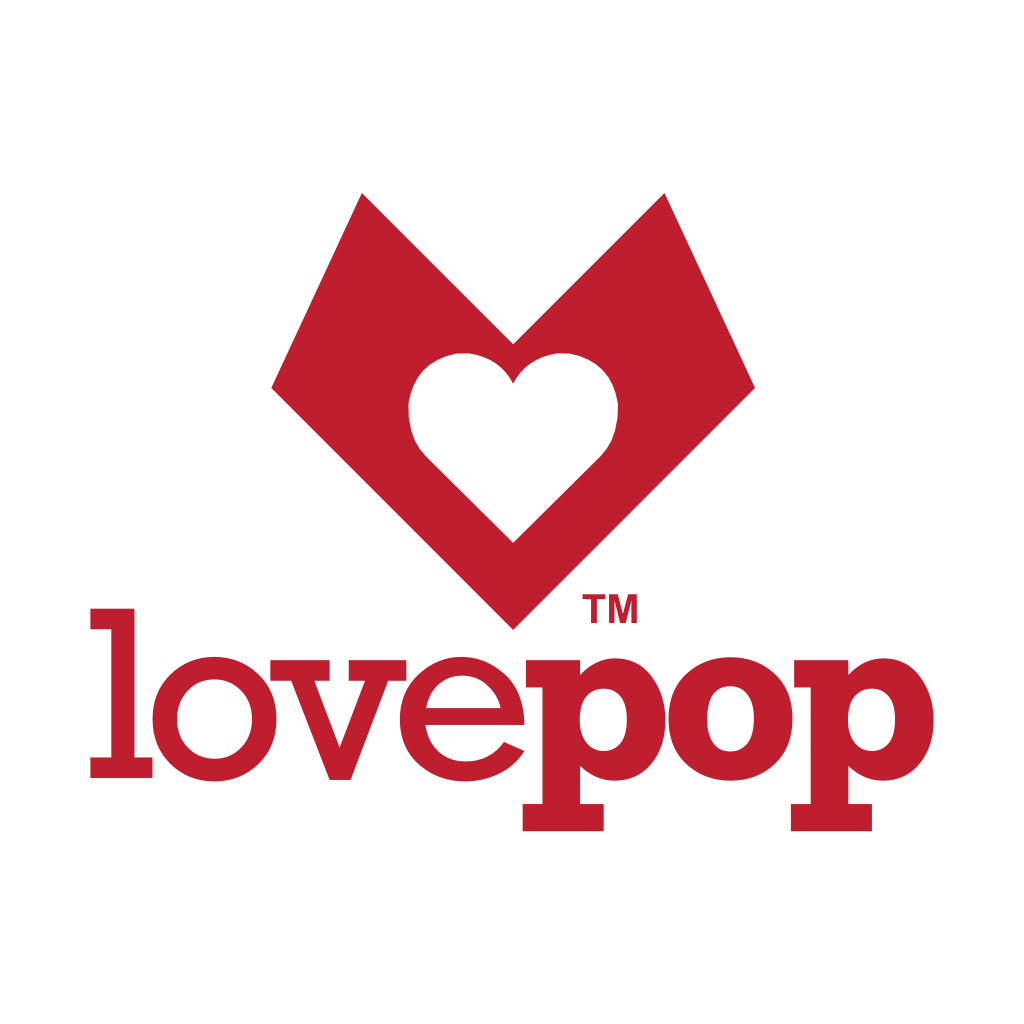 LovePop logo is an open pop-up card and the perfect gift