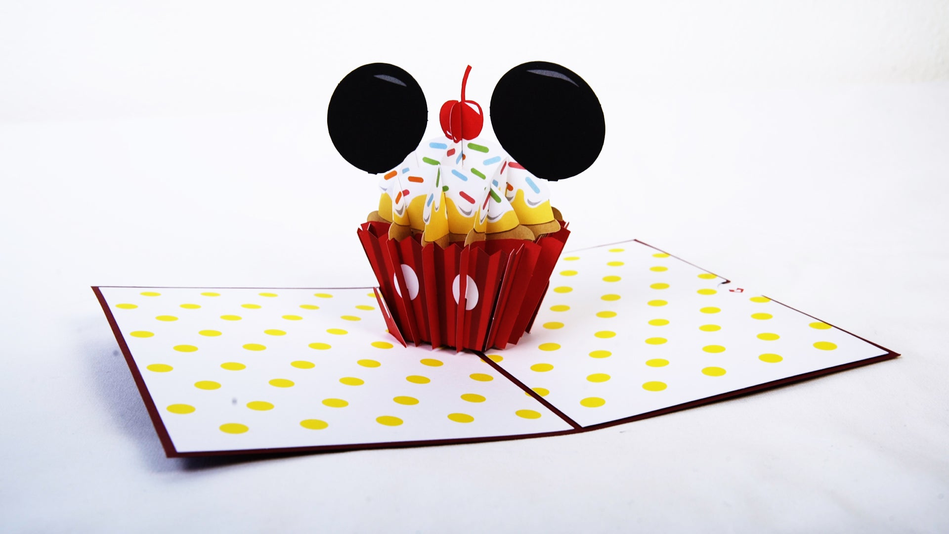 Enjoyable Disneys Mickey Mouse Birthday Cupcake Lovepop Funny Birthday Cards Online Fluifree Goldxyz