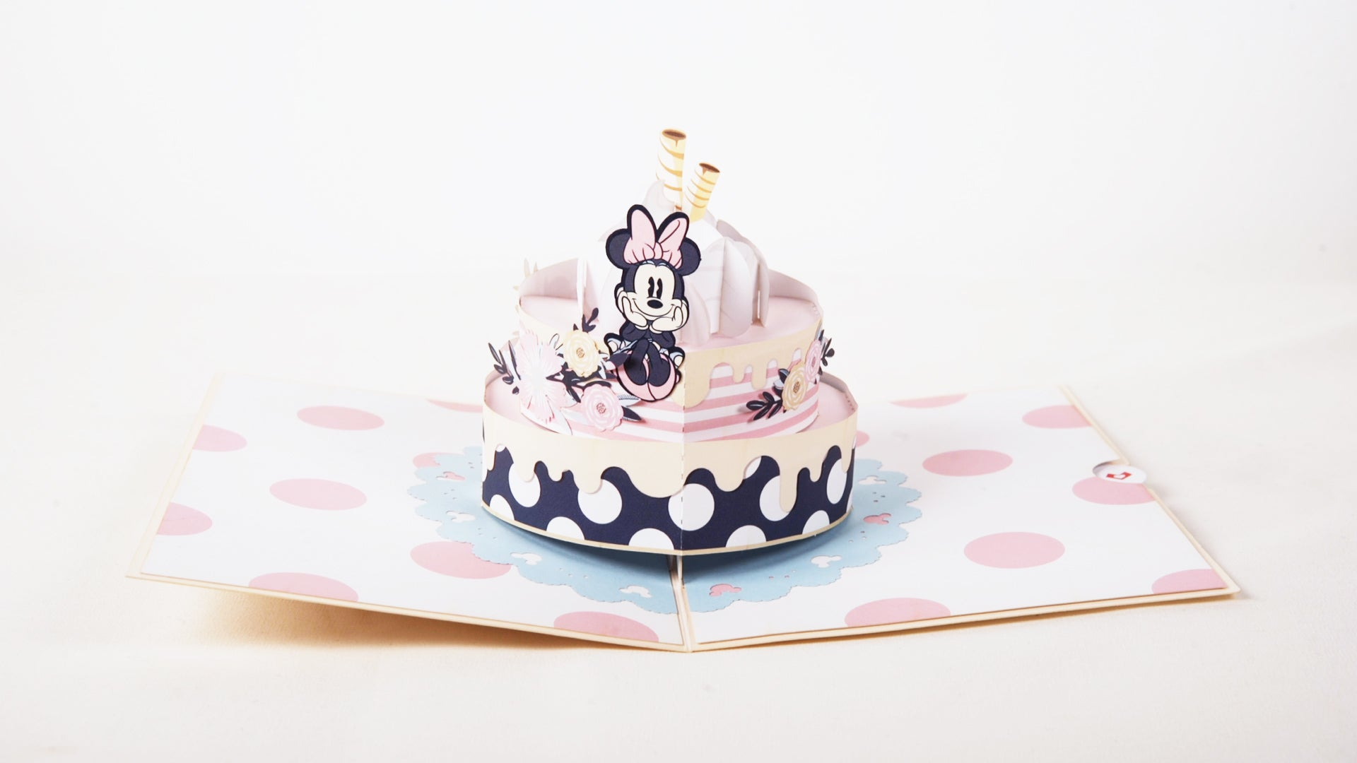 Astonishing Disneys Minnie Mouse Birthday Cake Lovepop Personalised Birthday Cards Rectzonderlifede