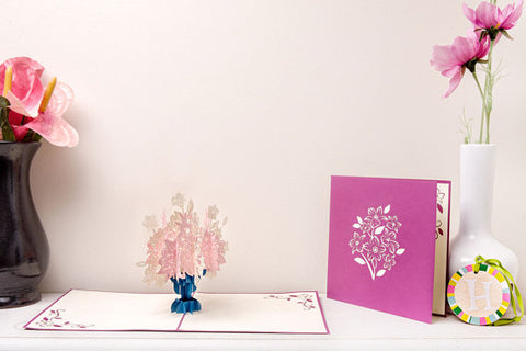 floral bouquet 3d pop up card
