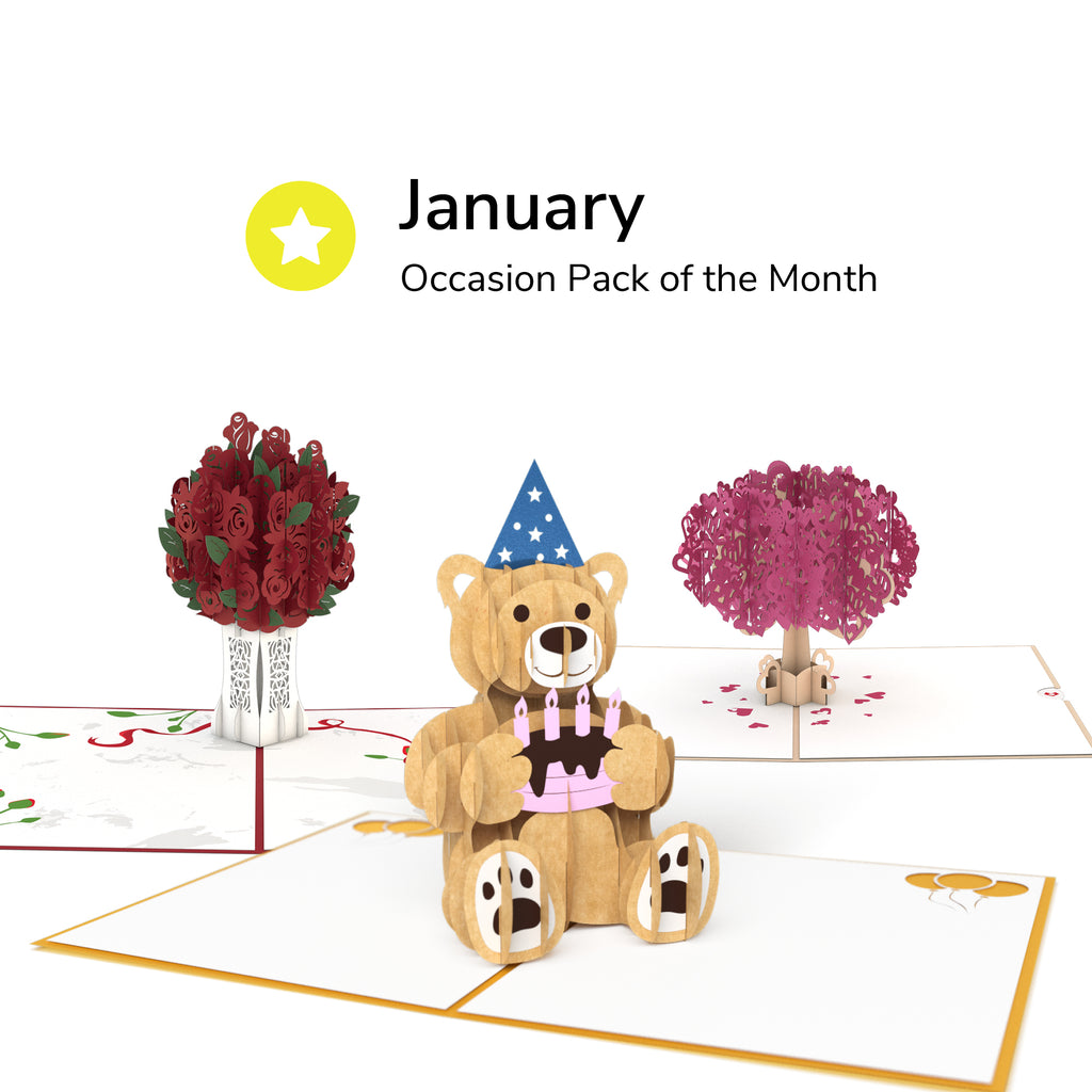 Pack of the Month - Occasions pop up card