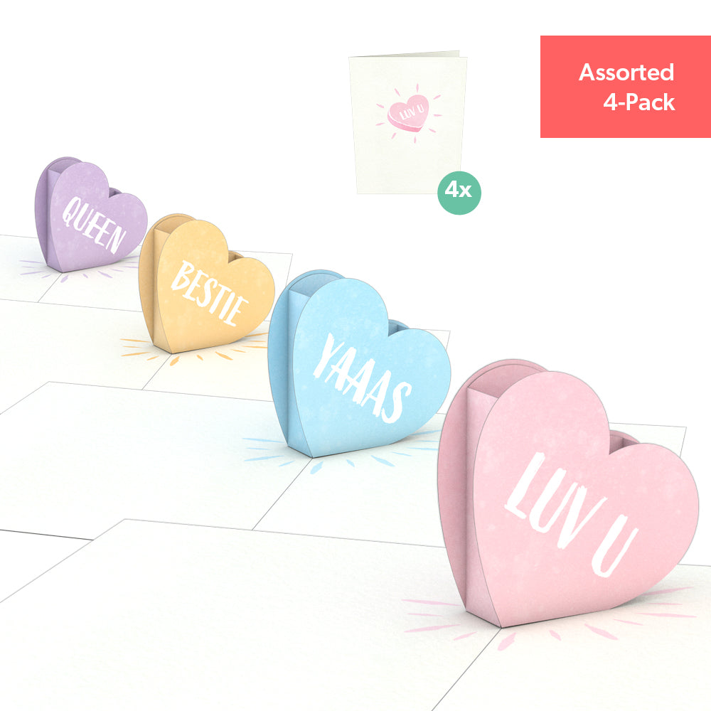 Love Hearts Notecards (Assorted 4-Pack)