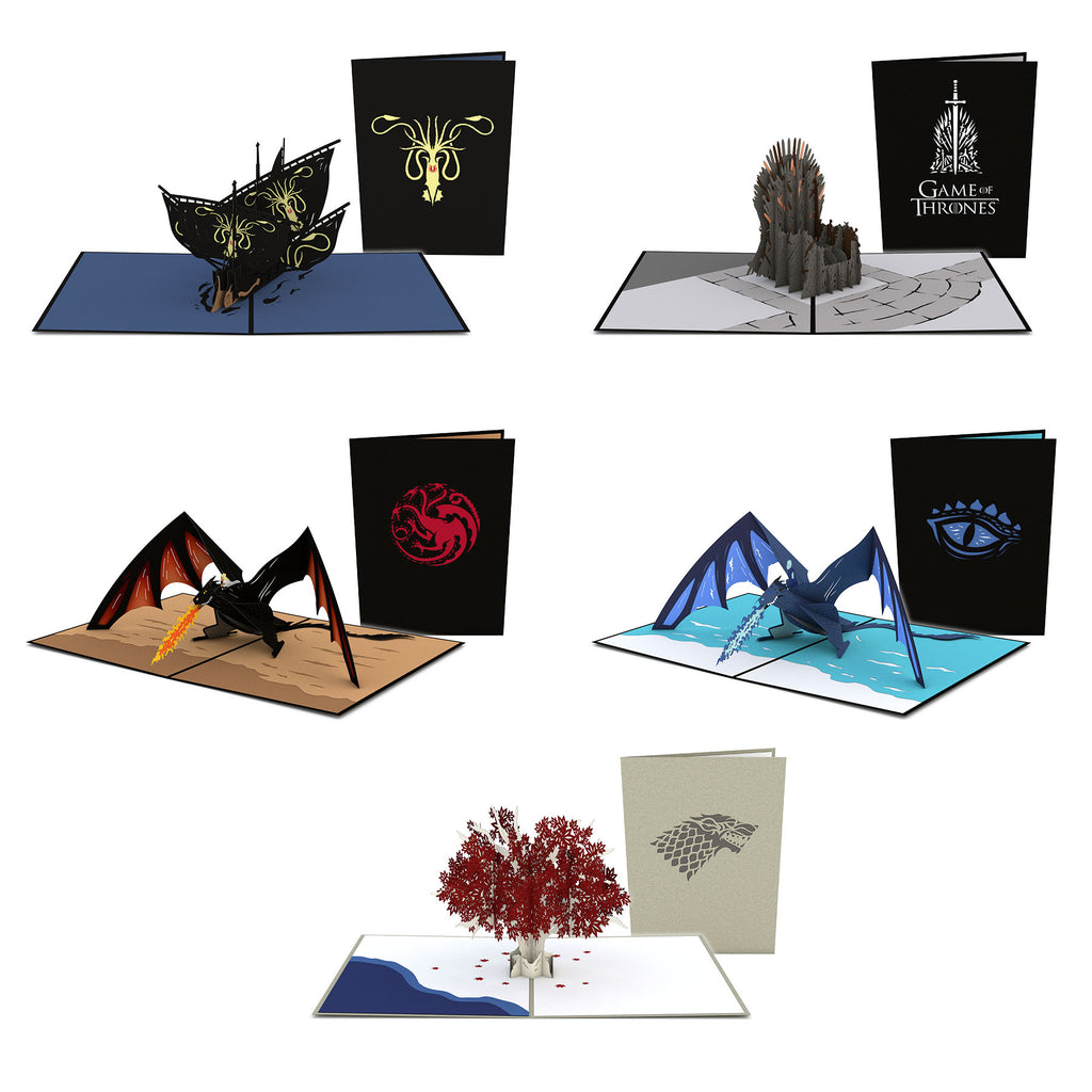 Game of Thrones 5 Pack birthday pop up card