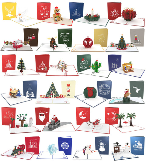 Advent Calendar 24 Pack greeting card -  Lovepop