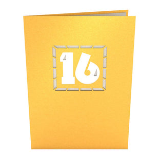 16th Celebration Pop up Card