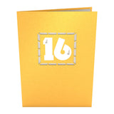 16th Celebration birthday pop up card - thumbnail