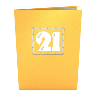 21st Celebration Pop up Card