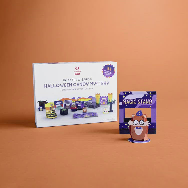 Frizz the Wizard's Halloween Candy Mystery Countdown Adventure Box