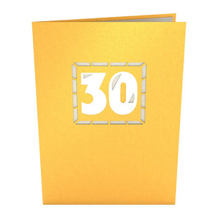 30th Celebration Pop up Card