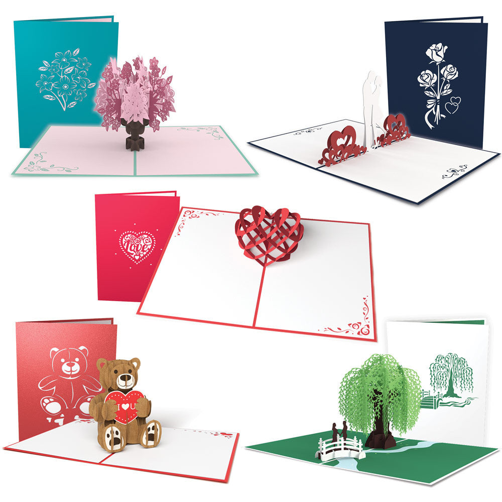 5 Days of Love Valentine's Day Card 5 Pack pop up card