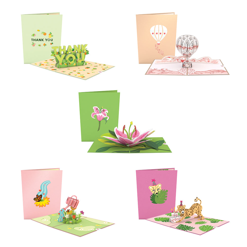 Brighten Their Day 5 Pack             pop up card