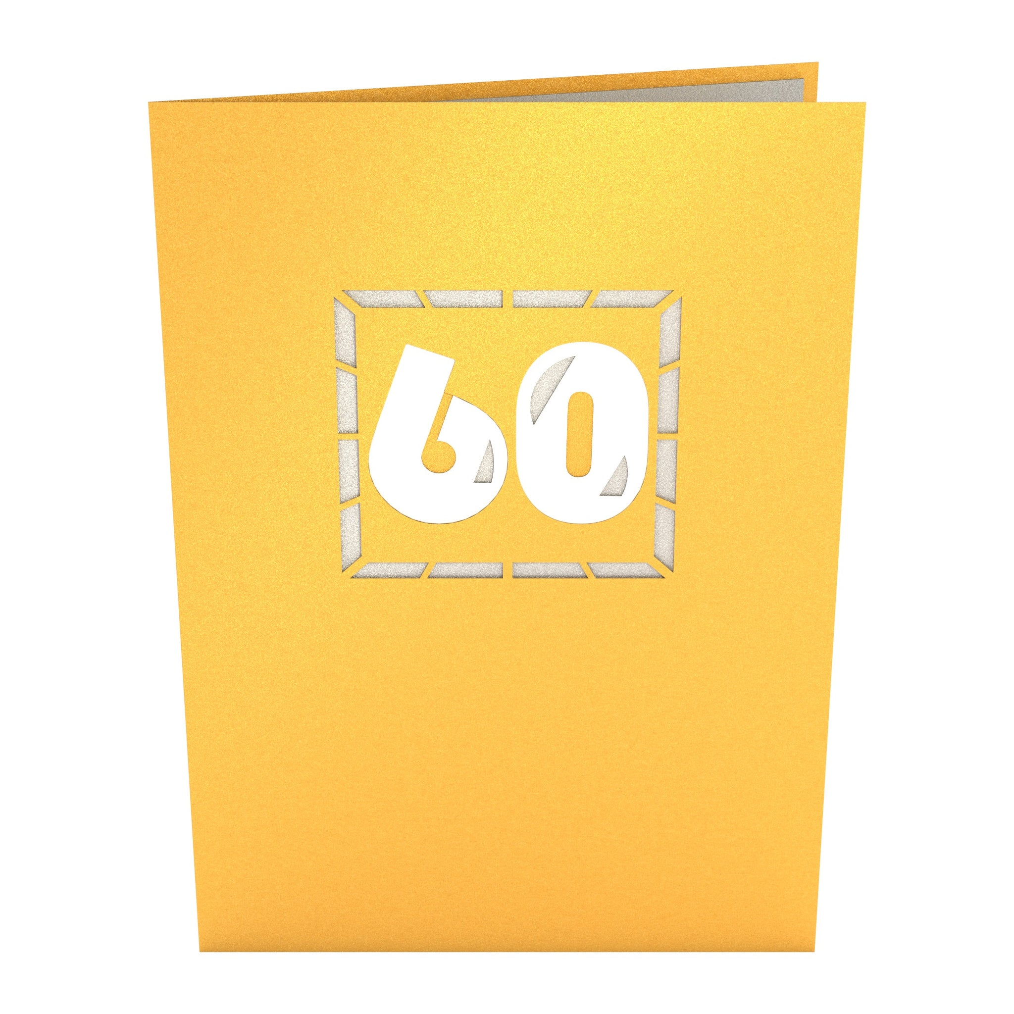 60th Celebration Birthday Pop Up Card
