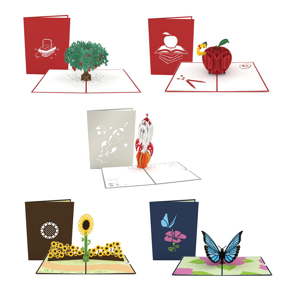 Back to School 5 Pack pop up card