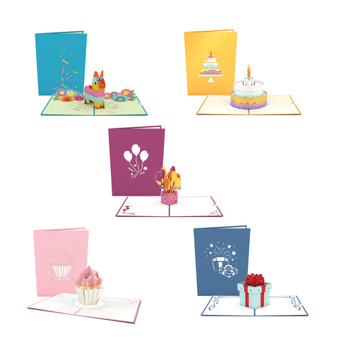 Birthday 5 Pack greeting card -  Lovepop