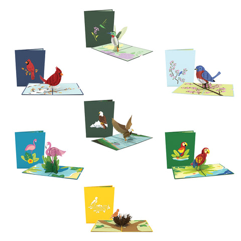 Lovepop Bird Pack greeting card -  Lovepop