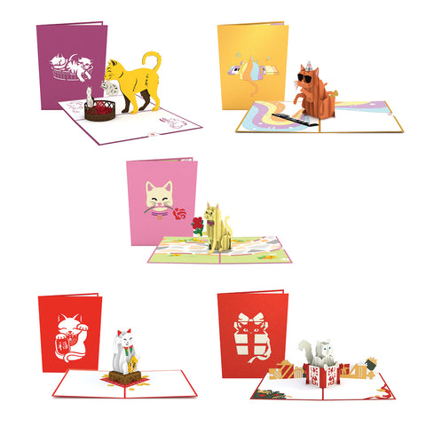 Lovepop Cat Pack greeting card -  Lovepop