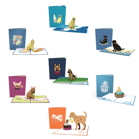 Lovepop Dog Pack greeting card -  Lovepop