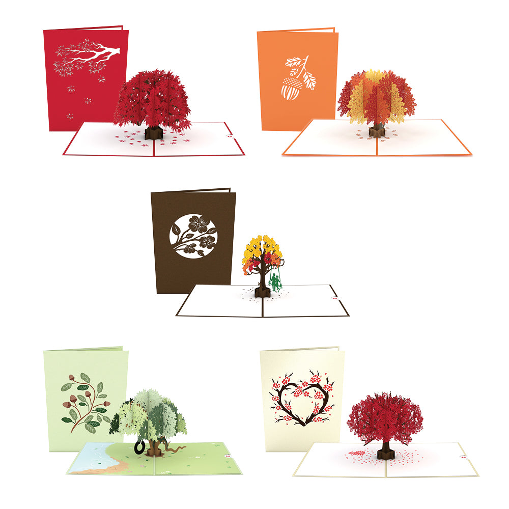 Fall Foliage 5 Pack pop up card