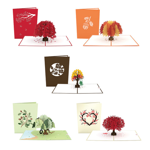 Fall Foliage 5 Pack greeting card -  Lovepop