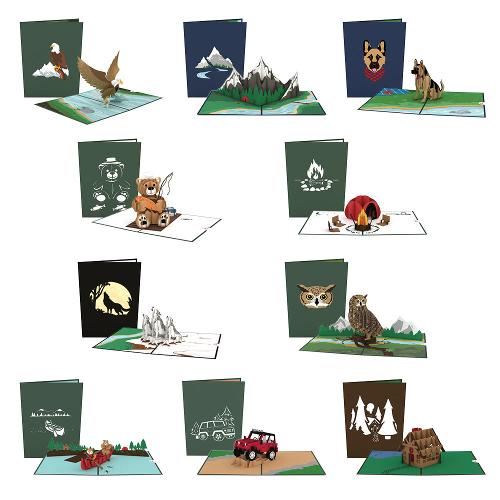 Great Outdoors Pack pop up card
